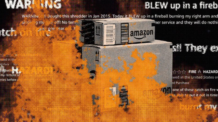 Dozens of Amazon's own products have been reported as dangerous -- melting, exploding or even bursting into flames