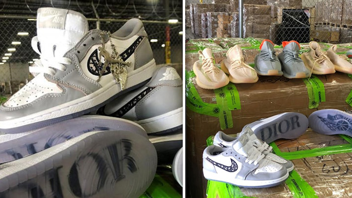 U.S. Customs and Border Protection Seize $4.3M in Fake Jordans, Yeezys...Agents Say It's From China